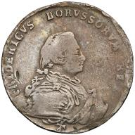 036. Prusy Fryderyk II 1/4 talara 1750-A, Berlin