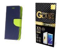 Case Etui Fancy +Szkło Huawei Mate 9 | Granatowy