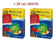 Mollers Żelki Rybki Owocowe 72+18 GRATIS Tran