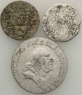 Niemcy Prusy XVIII w. monety (3 szt.) srebro st. 3