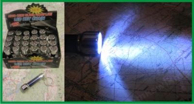 Latarka metalowa 7 LED BRELOK MOCNE ŚWIATŁO