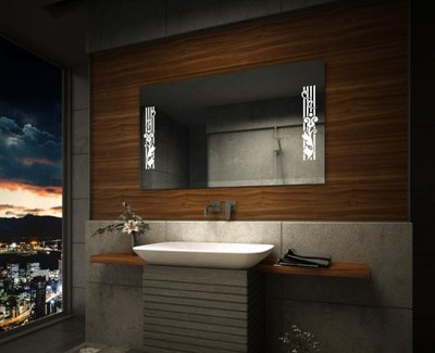 Lustro Led Podświetlane 70x50 Lustra Do łazienki