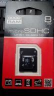 Karta GOODRAM microSDHC UHS1 8GB CLASS 10 +ADAPTER