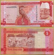 -- GAMBIA 5 DALASIS nd/ 2015 B P31 UNC-