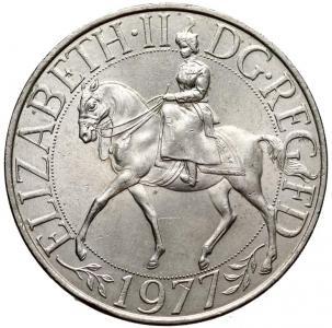 1491. Wielka Bryt. 25 pence 1977 Srebrny Jubileusz