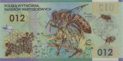 PSZCZOŁA banknot testowy - POLSKA - 2012 rok-PX26