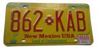 AMERYKAŃSKA TABLICA REJESTRACYJNA USA NEW MEXICO