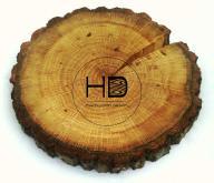 Plastry krążki drewna SUCHE SZLIFOWANE OLEJOWANE