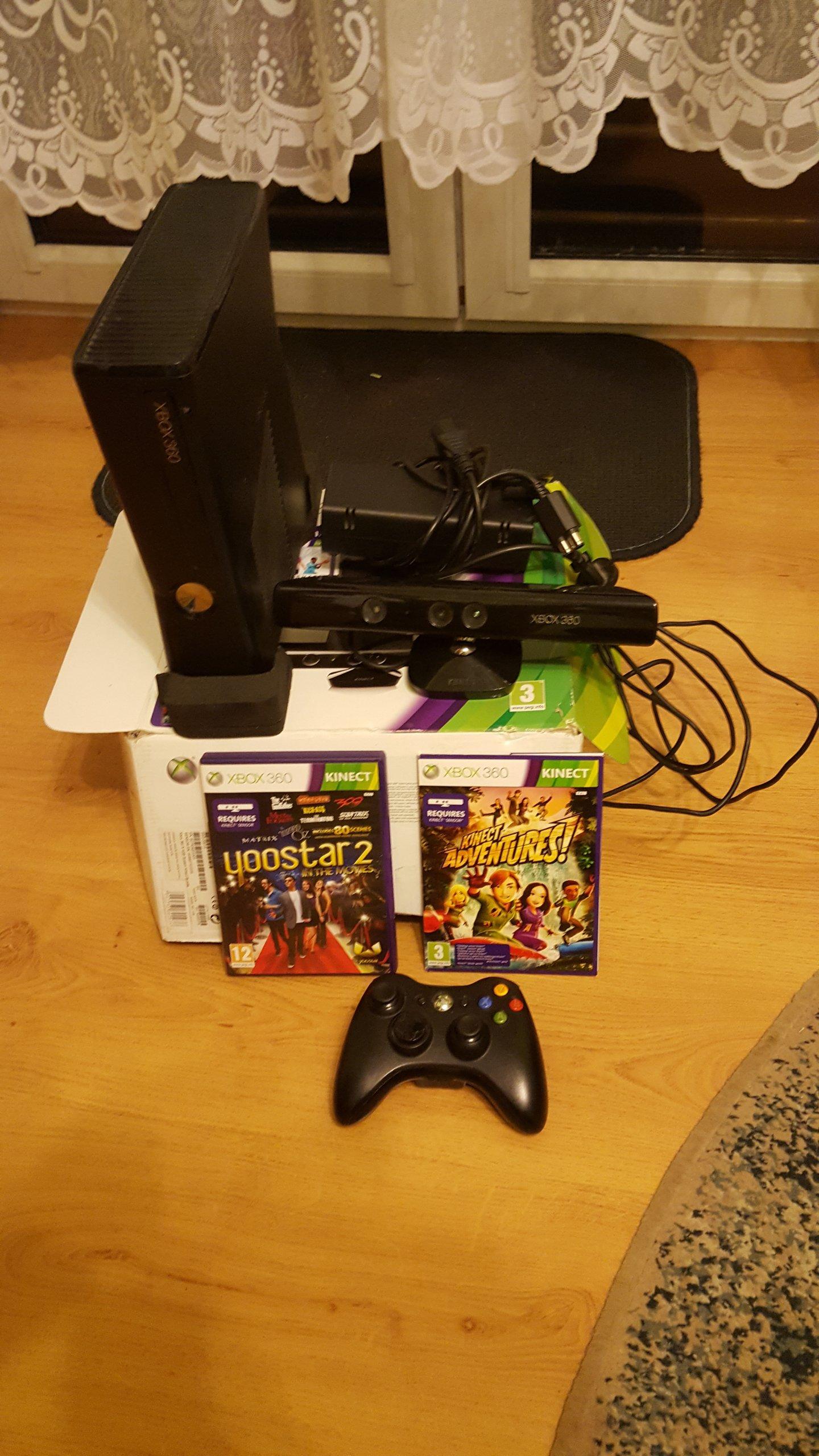 Xbox 360 Slim Malo Uzywany Kinnect Pad Gry 7023953326 Oficjalne Archiwum Allegro