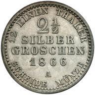 035. Prusy 2-1/2 silber groschen 1866-A st.2/2+
