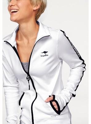 kangaroos świetna biała bluza