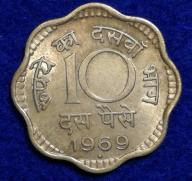 Indie 10 Paise 1969 r. 409/9