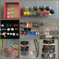 Mega paka biżuterii,kolczyki, okulary, bransoletki