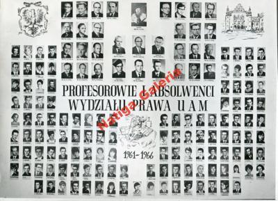 WYDZIAŁ PRAWA UAM 1961-66 POZNAŃ prawnicy