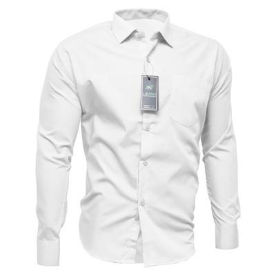 4546 Koszula Męska BIAŁA długi klasyczna od KNKK  DVxSa