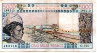 Mali 5000 Francs 1992 P-407 Dl