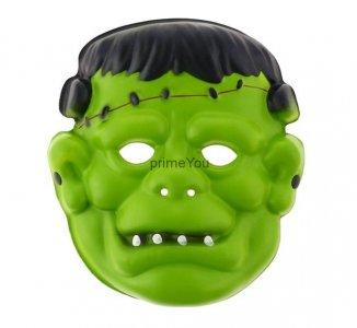 Maska z pianki Zielony Ufolud Karnawał Halloween
