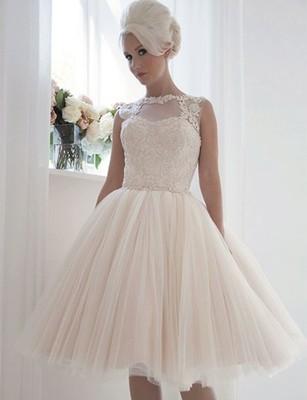 Nowość Piękna Suknia ślubna W Stylu Retro Krótka 6515912792