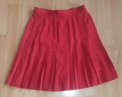 czerwona spódniczka plisy M&S 40