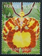 Francja 0,55 -Orchidea papilon