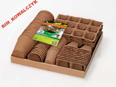 Doniczki Torfowe Biodegradowalne 96 Do Rozsad Mix