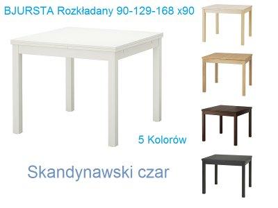Ikea Stół Bjursta Rozkładany 90 129 168x90 Kolory