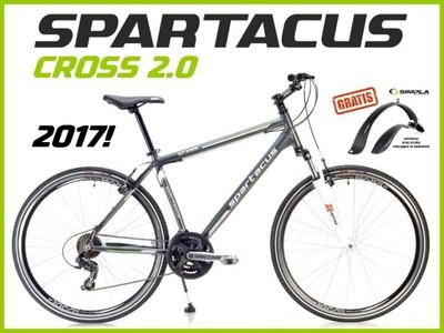 2017 !!! SOLIDNY ROWER SPARTACUS CROSS 2.0 +GRATIS