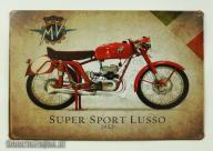 Motocykl Augusta MV Super Sport Lusso 1952 Plakat