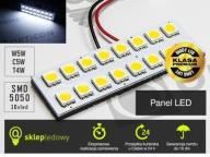 Żarówka LED 24V W5W T10 16x SMD 5050 Biały Zimny