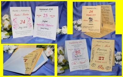 Zaproszenia ślubne Kartka Z Kalendarza Z Humorem 6066484134