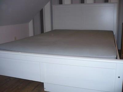 Ikea Hemnes łóżko Podwójne 140x200materacszuflad