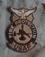 naszywka U.S. ARMY USA USAF Fire Protection dcu