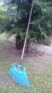 Komplet: Grabie + Trzonek drewniany Gardena 150 cm