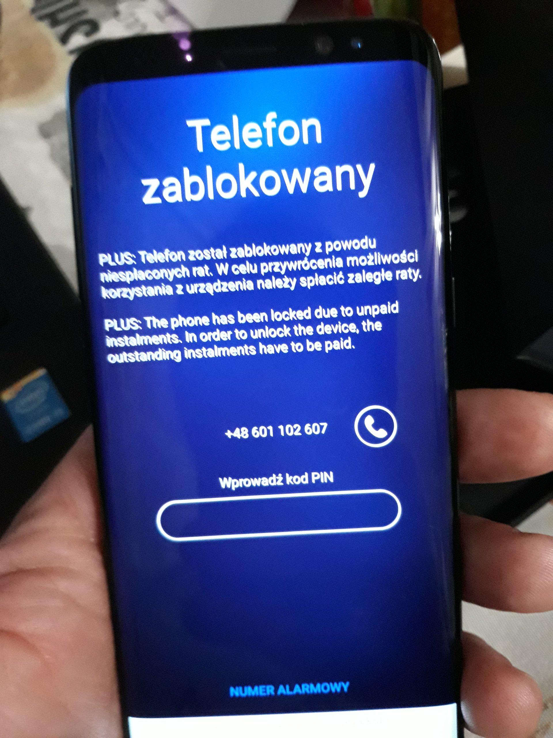 Samsung Galaxy S8 31 08 17 Zablokowany 7024854589 Oficjalne Archiwum Allegro