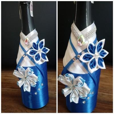 Aktualne dekoracja butelek z wstążki , wesele, urodziny, - 6987197898 CL55