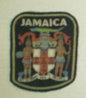 Plakietka-naszywka JAMAICA na czarnym filcu