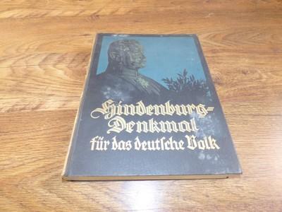 Hindenburg-Denkmal fur das deutsche Volk 1929r