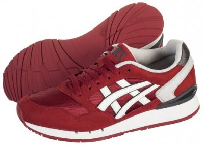 asics bordowe