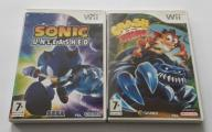 Nintendo Wii Sonic unleashed Crash of the titans