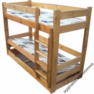 Dominator 80x200 łóżko Piętrowe Mega Solidne Tapcz