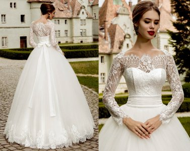 Suknia ślubna Koronka Długi Rękaw 34 Xs Na Już 6528994402