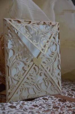 Zaproszenia ślubne Ażurowe 6642224200 Oficjalne Archiwum Allegro