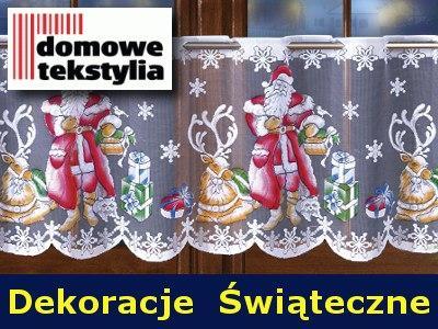 Mikołaj 50 Cm Lambrekiny Firanki Zazdrostki święta