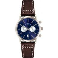 Rotary Men's Quartz Watch with Blue Dial Chronogra