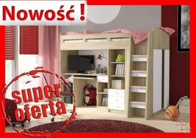 Unit łóżko Piętrowe Z Biurkiem I Szafą 6469766120 Oficjalne