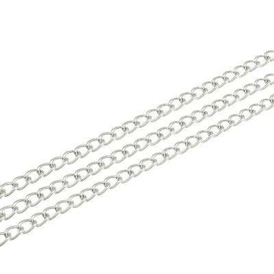 Łańcuszek Srebrny Przedłużka 4x6,3mm 100cm