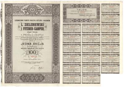 3110. L. Zieleniewski i Fitzner-Gamper, 100zł