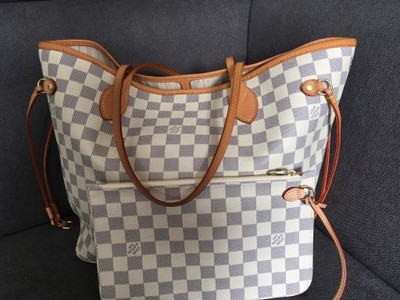 278e3368b6bf4 Torebka Louis Vuitton Neverfull Damier Azur MM - 6893942883 ...