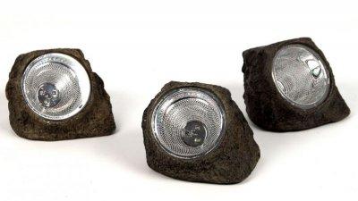 3 Lampy Solarne Kamień Ogród