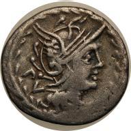 Rzym -Republika AR-denar M. Lucilius Rufus 101 pne